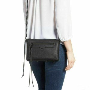 Rebecca Minkoff Saffiano Leather Studded Crossbody